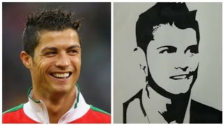 Cristiano Ronaldo - drawing Cristiano Ronaldo sketch   cr7
