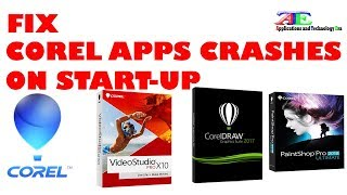 Solved: Corel apps crashes on starting-up/launch ( VideoStudio, CorelDraw )