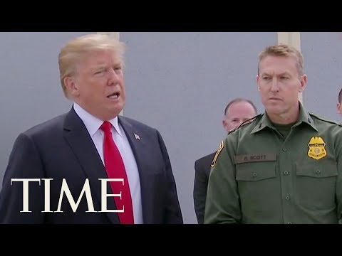 President Trump Inspects Border Wall Prototypes In California: 'No Country Without A Wall' | TIME