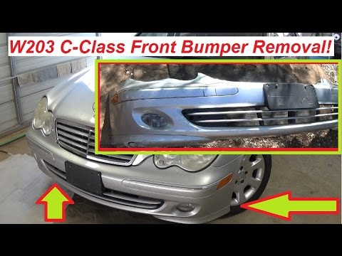 hqdefault mercedes w203 front bumper removal and replacement! c230 c320 c180  at fashall.co