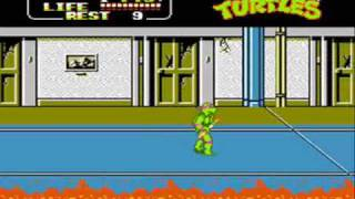 Game | Teenage Mutant Ninja Turtles II The Arcade Game for NES Video Walkthrough Part 1 | Teenage Mutant Ninja Turtles II The Arcade Game for NES Video Walkthrough Part 1