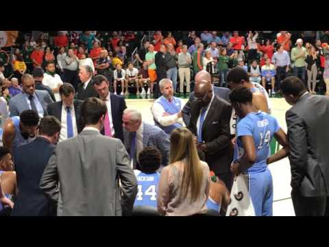 Roy Williams Chair Slam in Timeout During Miami Hurriances