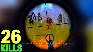 ME VS FULL SQUADS LATE GAME | 26 KILLS SOLO VS SQUAD | PUBG MOBILE