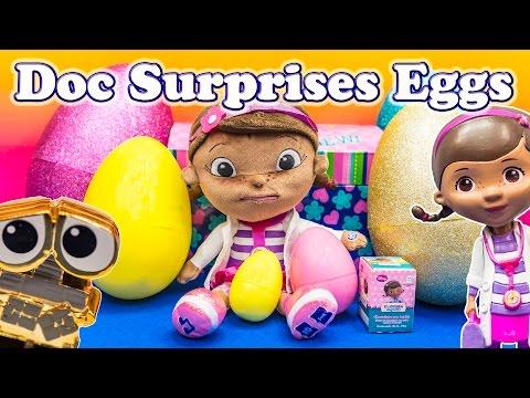 DOC MCSTUFFINS Disney  Surprise Eggs Wikkeez Surprise Trunk a Disney Candy + Toys Video