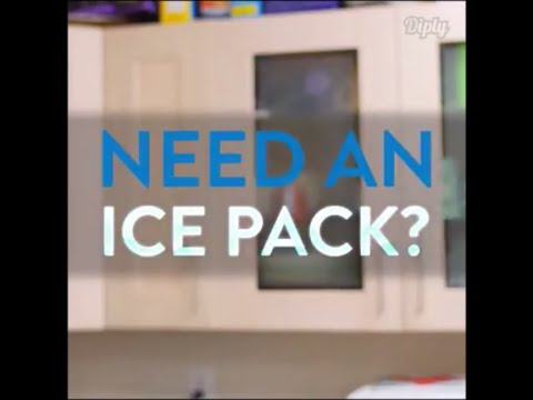 How to make an ice pack and keep ice pack cold for longer time