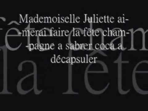 Alizee- Mademoiselle Juliette lyrics