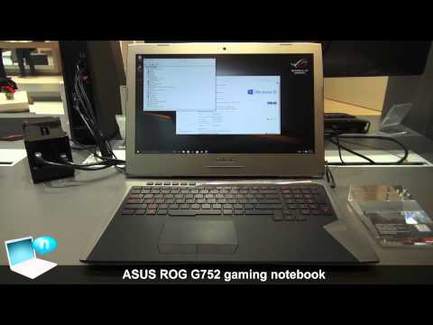 ASUS G752 ROG gaming notebook