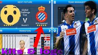 How To Create RCD Espanyol Team Kits & Logo 2019 |  Dream League Soccer 2019