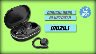 Muzili Auriculares Bluetooth Deportivos V5.0 IPX7 Impermeable