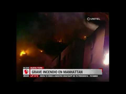 Estados Unidos: Grave incendio en Manhattan, no hubo muertos ni heridos