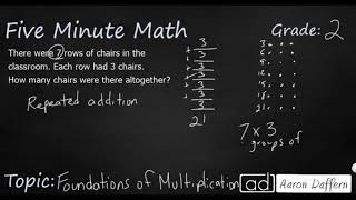 2nd Grade Math Foundations of Multiplication