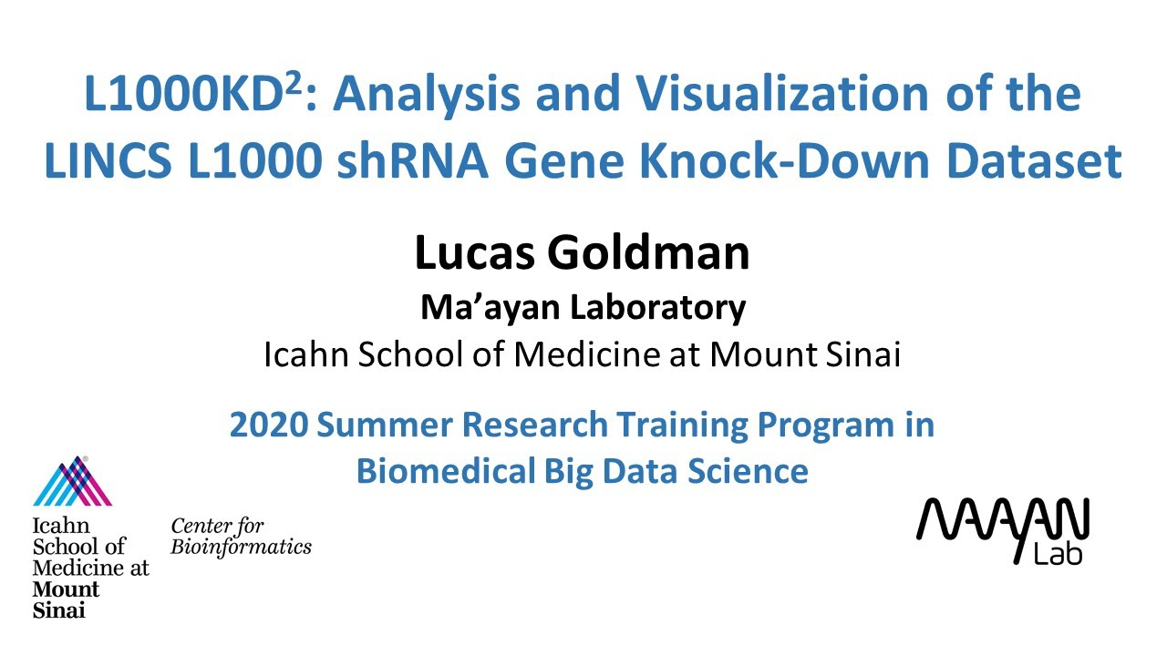 L1000KD2: Analysis and Visualization of the LINCS L1000 shRNA Gene Knock-Down Dataset