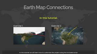 Earth Map Connections After Effects Template Free Download