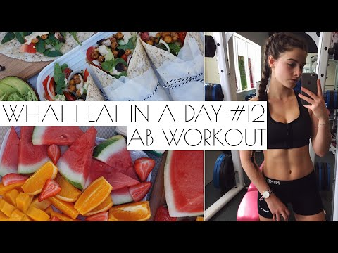 WHAT I EAT IN A DAY #12 + AB WORKOUT | VEGAN & EASY