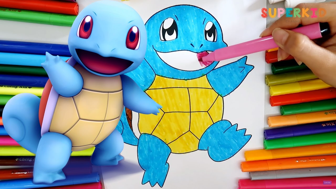 Coloring Squirtle Pok 233 Mon Pokemon Coloring Pages For
