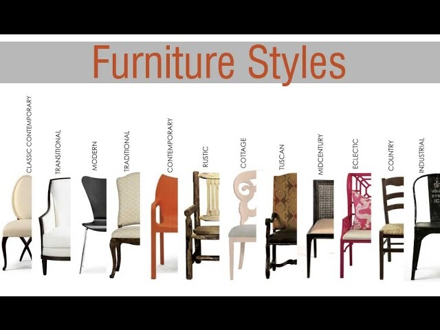 Diffe Types Of Furniture Styles, What Is Classic Furniture Style