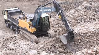 Volvo EC220E gravemaskine med larvebånd: bygget til at vare