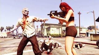 GTA 5 - Guerra contra os zumbis ( versão especial com narrações )