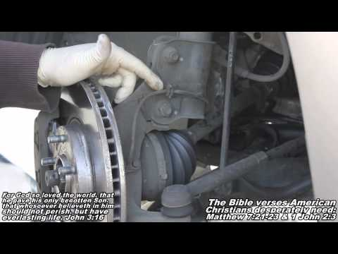 "ABS Wheel Speed Sensor Remove & Replace ""How to"" Nissan Quest"