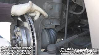 """ABS Wheel Speed Sensor Remove & Replace """"How to"""" Nissan Quest"""