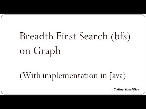 Breadth First Search (bfs) on Graph with implementation in Java