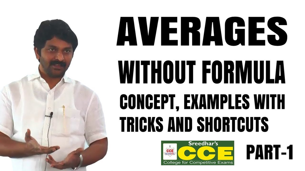 Download Average | Averages part-1 Concept, Problems, Shortcuts, Tricks in Telugu for all competitive exams