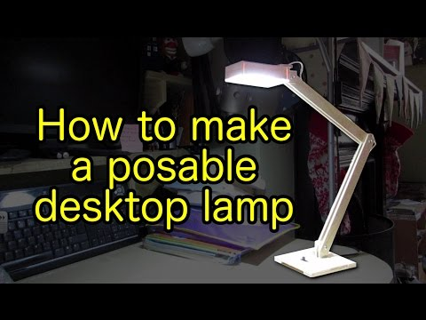 How to make a USB-powered, posable desktop lamp