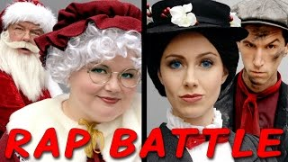 MRS CLAUS vs MARY POPPINS: Princess Rap Battle (Whitney Avalon Alyssa Preston Jim O