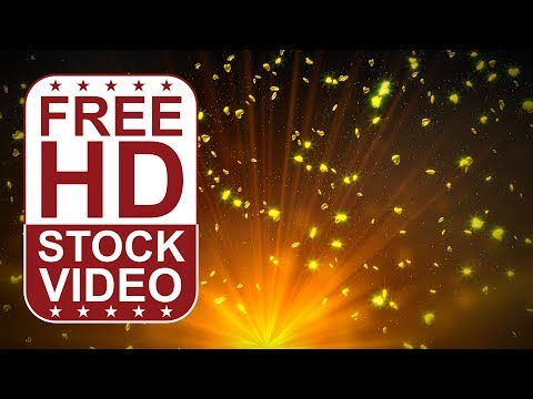 FREE HD video backgrounds –  abstract animated 3D gold hearts spining and falling