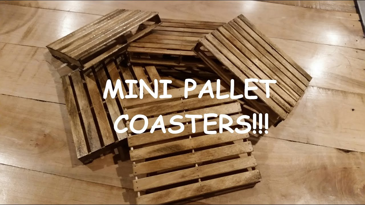 Mini Pallet Coasters Realistic Look With Distressed Finish Youtube