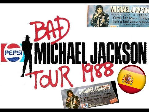 MICHAEL JACKSON - BAD WORLD TOUR SPAIN 1988 + ANOTHER PART O
