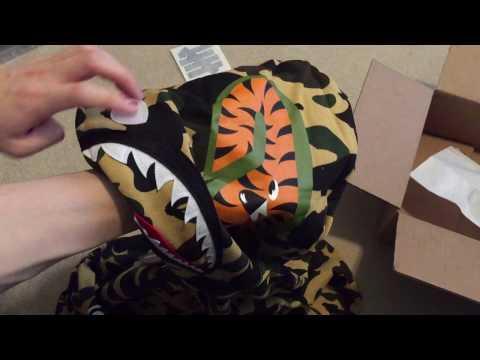 Bape 1st Camo Shark Full Zip Hoodie Yellow Pickup/Unboxing