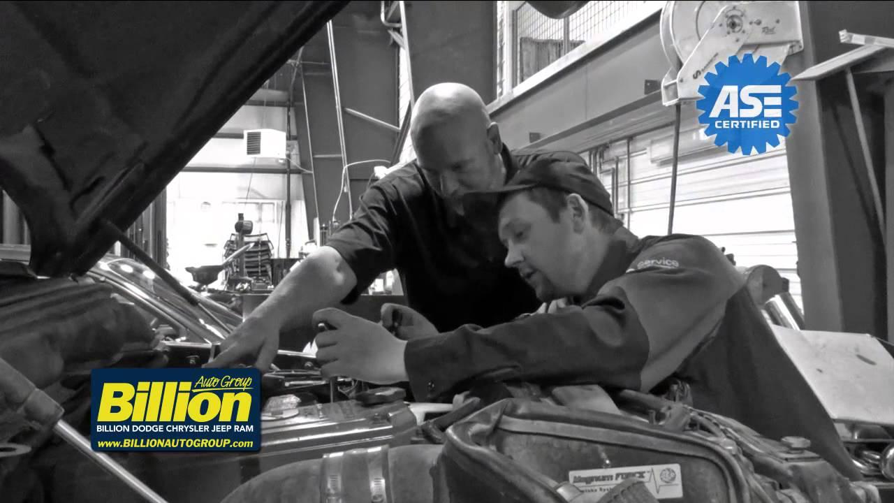 Billion Dodge Chrysler Jeep Ram Service Department - YouTube