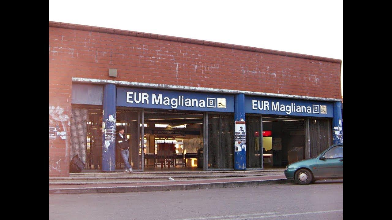 Metro B Roma - Viaggio da Eur Magliana a Circo Massimo ...