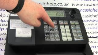 How to do a sale on the casio se-g1, se-s700, sm-t273, pcr-t273 cash registers. subscribe for more or visit www.casiohelp.co.uk