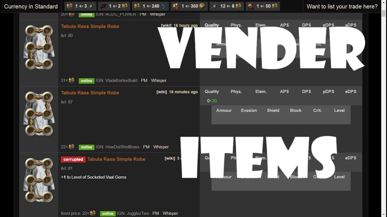 Cómo vender en POE TRADE - Path of Exile