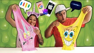 SIRI VS GOOGLE FAZENDO SLIME ( Pretend to play with Slime Challenge) | Maloucos
