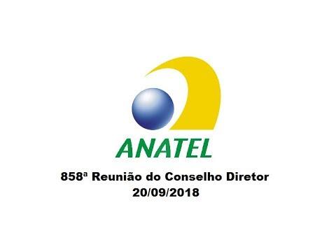 858ª Reunião do Conselho Diretor, de 20/09/2018