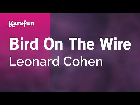 Karaoke Bird On The Wire - Leonard Cohen *
