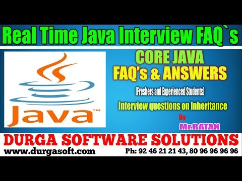 Java Interview FAQs || Interview Questions On Inheritance By Ratan