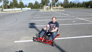 How To Build Ultra Light Electric Go Kart 24v 400 Watt Test Drive (part 6)