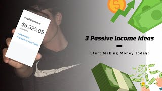 3 PASSIVE INCOME IDEAS | Passive Income 2020 | Passive Income Apps | Make Money Online From Home