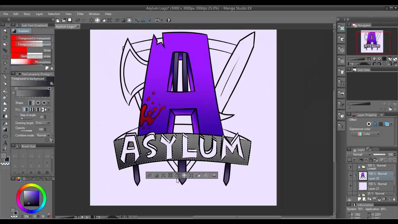 Minecraft SpeedArt AsylumMC Server Logo YouTube - Minecraft server icon erstellen