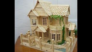 Cara Membuat Mini Atur Rumah Dari Stik Es Krim