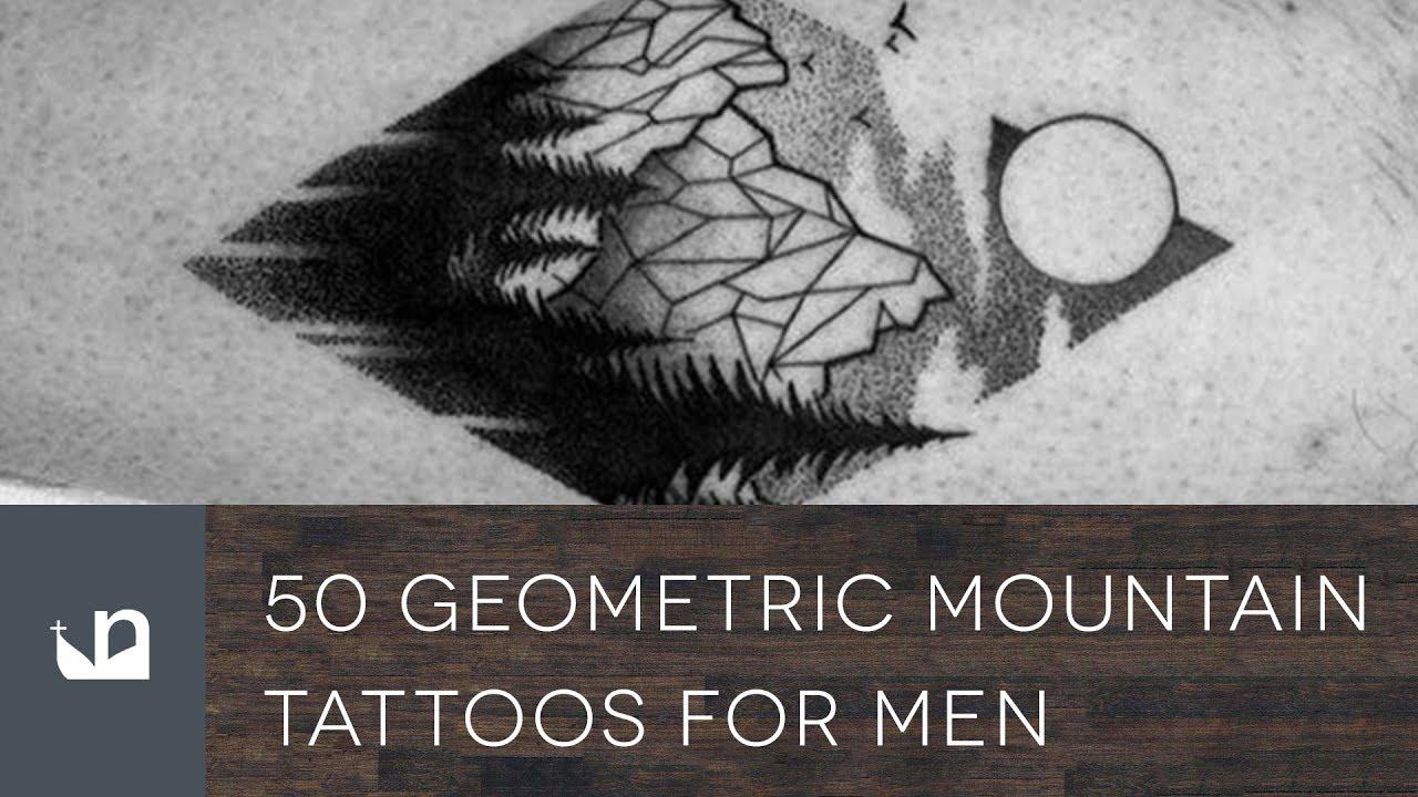 50 Geometric Mountain Tattoo Designs For Men – Geometry Ink Ideas