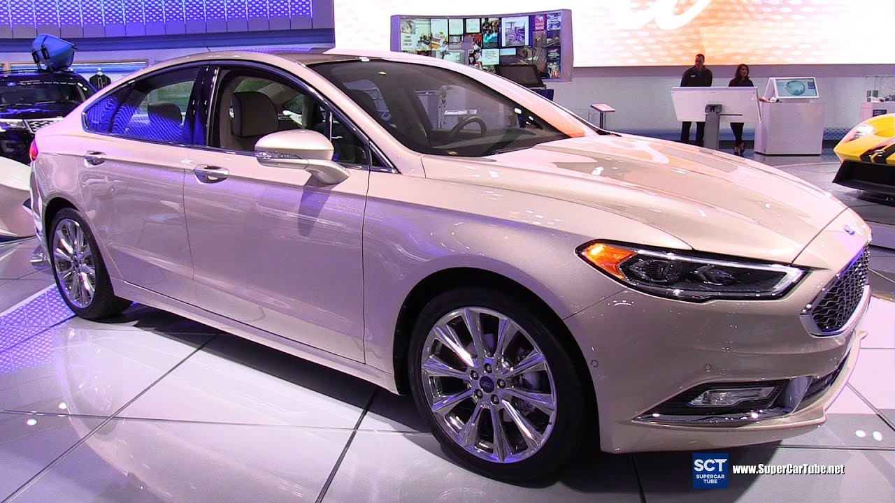 2017 ford fusion platinum exterior and interior walkaround 2016 new york auto show youtube. Black Bedroom Furniture Sets. Home Design Ideas