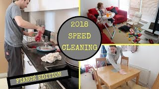 SPEED CLEANING OUR APARTMENT 2018 || CLEANING WITH MY FINACE