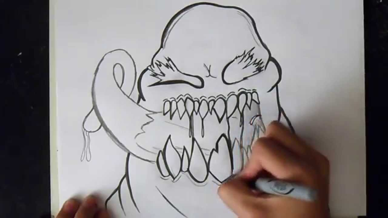 Comment Dessiner Un Monstre Graffiti Youtube