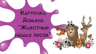 Карточки Домана для детей Животные  смотреть онлайн