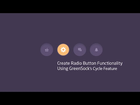 Create An Animated Radio Button Using GreenSock's Cycle Feature